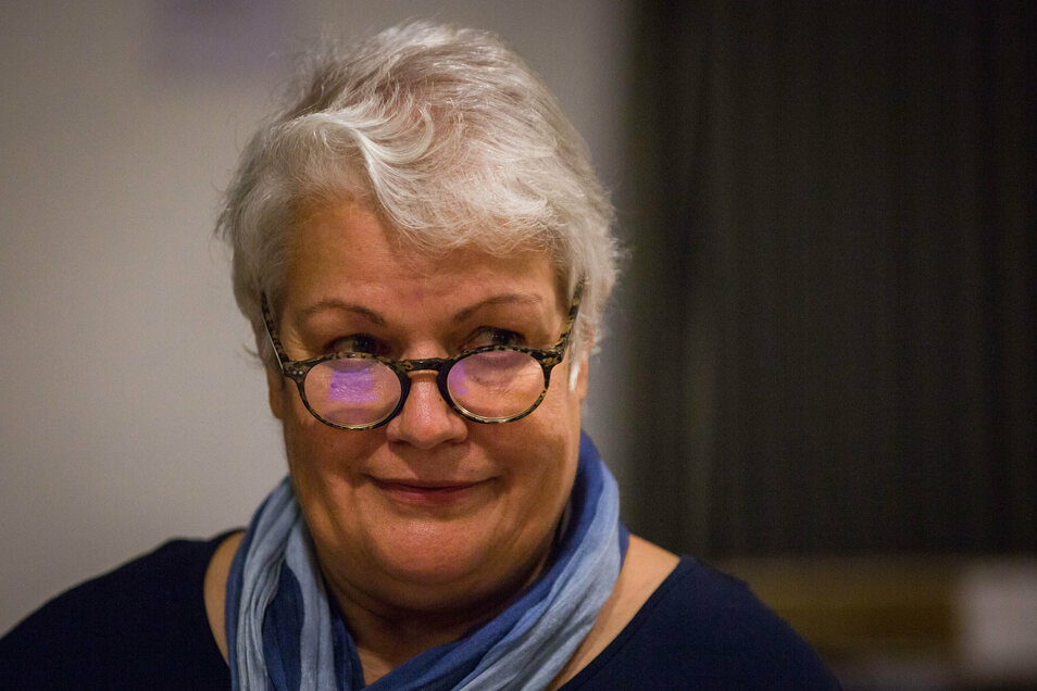 """Heidi Geiler von der Bürgerinitiative """"Endlich Wasser im Sachsenbad"""": """"Wir hören erst auf, wenn die Bagger dastehen. Die Hoffnung stirbt zuletzt."""""""