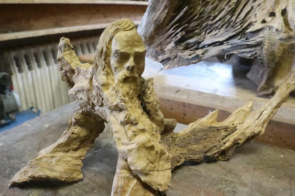 Das ist eine der vielen Arbeiten von Aloysius Scholze. Mehr davon werden in der Ausstellung zu sehen sein.