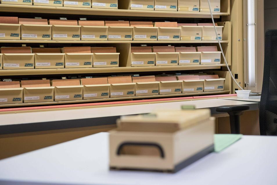 Im Berliner Stasi-Unterlagen-Archiv: Hier wurden bislang auch die Karteikarten des MfS aufbewahrt