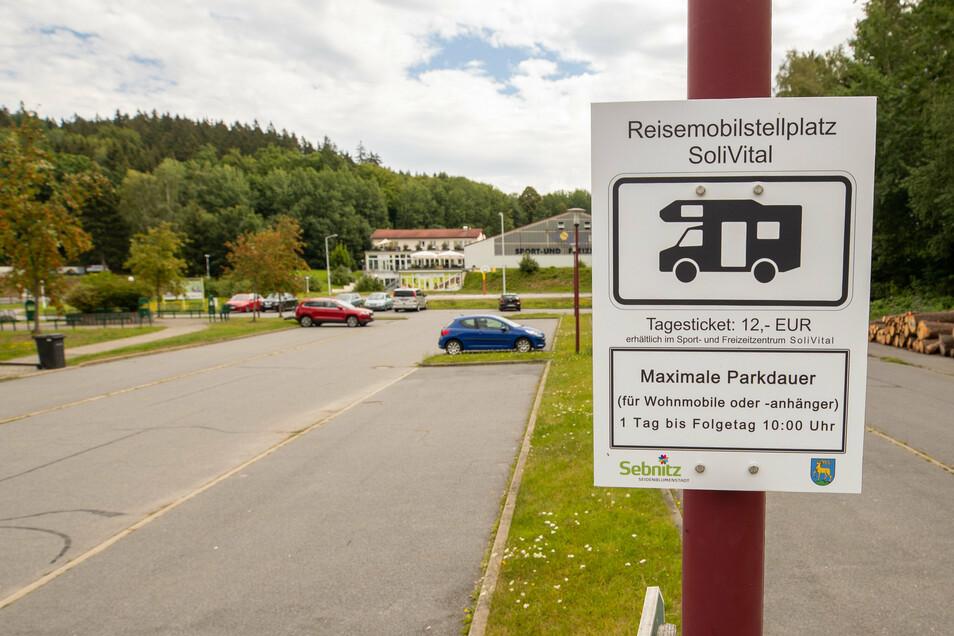 Ein Platz von vier, die Sebnitz Mitte Juli neu für eine Wohnmobil-Nacht freigegeben hat: der am Solivital.