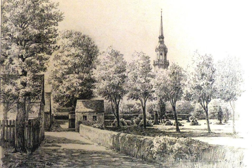 Die Pestopfer wurden in Radeberg nicht auf dem normalen Friedhof begraben, sondern auf dem speziellen Pestfriedhof am Lotzdorfer Kirchsteig. In dem Totenhäuschen wurden die Leichen aufgebahrt.