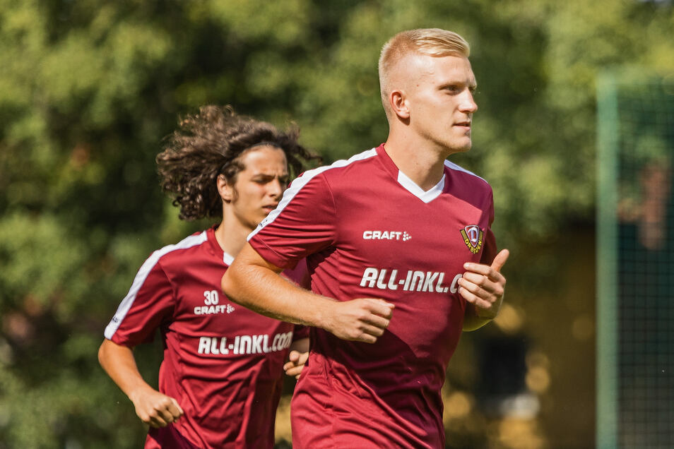 Am Mittwochnachmittag drehte Luka Stor seine ersten Runden auf dem Trainingsplatz von Dynamo.