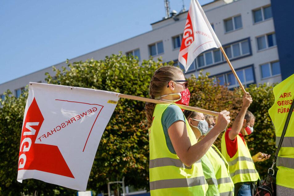 Die Gewerkschaft Nahrung-Genuss-Gaststätten hatte zum dem Streik bei Bautzner Senf aufgerufen und will ihn bis Freitag fortsetzen.