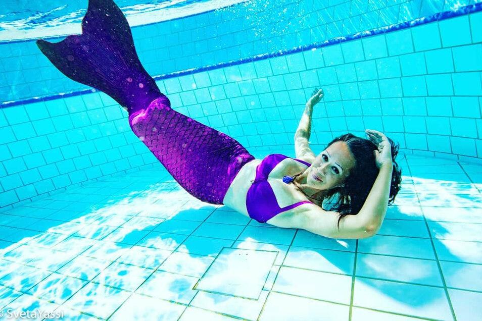Kursleiterin Sandra Völzer war früher selbst Leistungsschwimmerin.