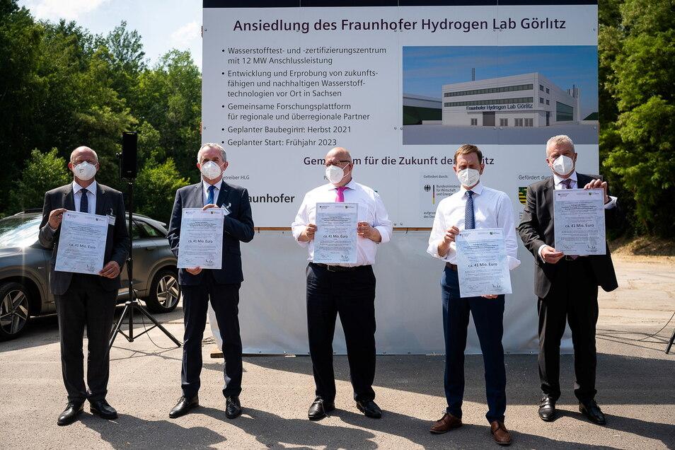 Erst Mitte Juni war Bundeswirtschaftsminister Peter Altmaier in Görlitz, um die Pläne für das Wasserstoff-Forschungszentrum von Fraunhofer zu unterstützen.