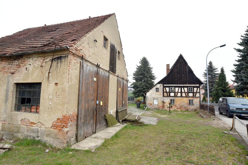 """So sah die Scheune neben der """"alten Lotte"""" in Eckartsberg noch vor wenigen Tagen aus."""