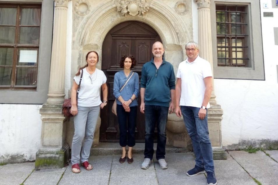 Foto: Angret Wetzel: v.l. Silvia Klöde, Tina Hopperdietzel, Andreas Ehret und Olaf Fieber