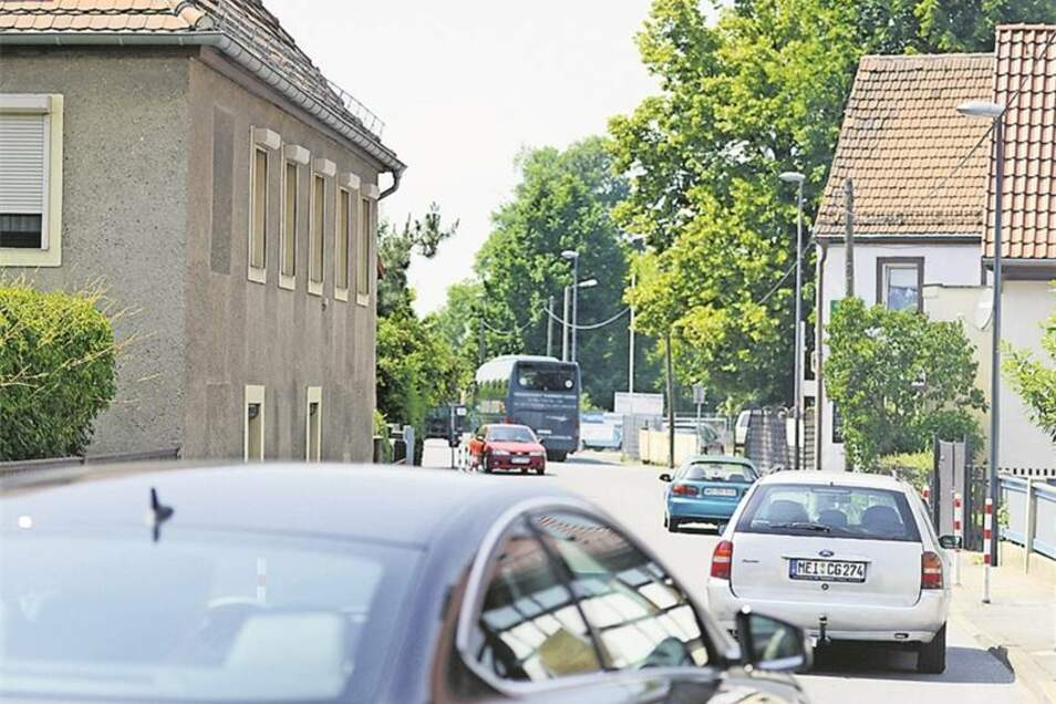 Kötzschenbrodaer Straße in Radebeul-Serkowitz