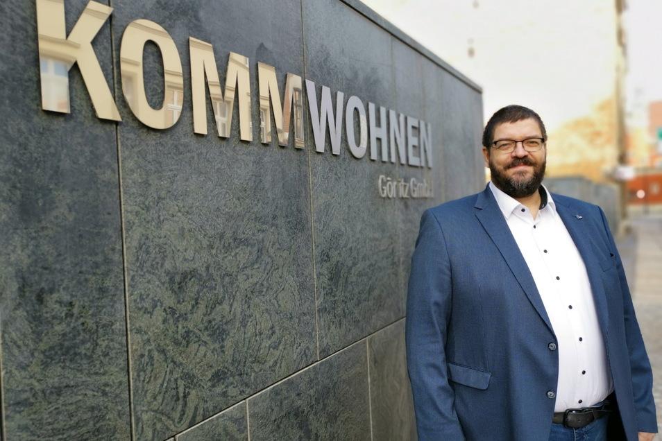 Arne Myckert, Geschäftsführer von Kommwohnen, will ein Haus in der Konsulstraße abreißen.