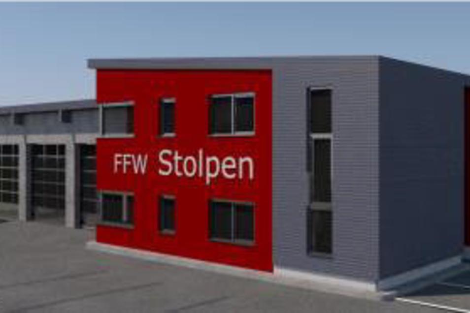 Nach den Ideen der bauplanconcept ingenieure gmbh Neukrich wird das neue Gerätehaus in Stolpen gebaut.