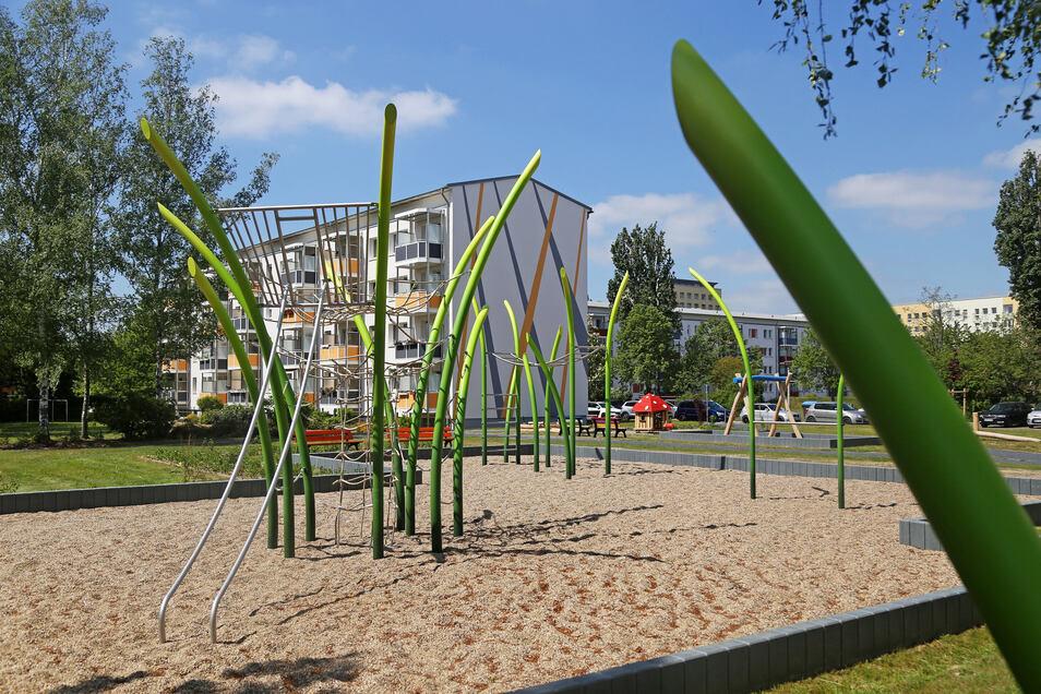 Der Spielplatz an der Glauchauer Straße.