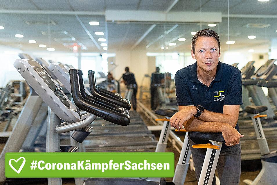 Lars Weber, einer von drei Geschäftsführern des Thomas Sport Center, sucht lieber Lösungen, als Probleme zu beschreiben.
