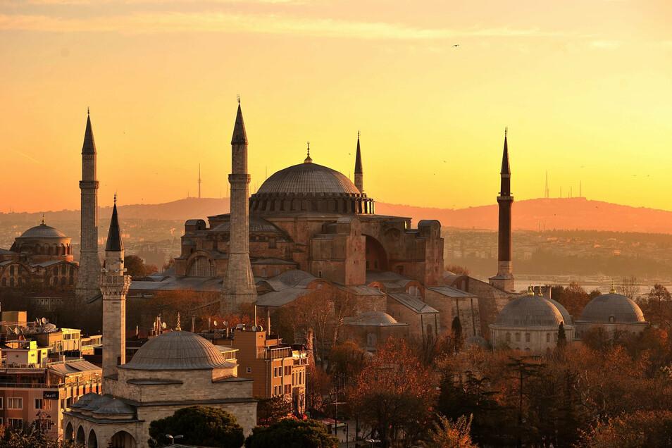 Die Bundesregierung warnt vor Reisen in die Türkei. Im Bild: Die Hagia Sophia in Istanbul.