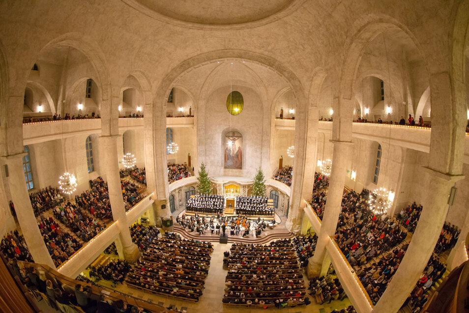 So voll wird die Kreuzkirche an diesem Weihnachtsfest nicht sein. Aber ganz ausfallen muss der weihnachtliche Kirchbesuch dennoch nicht.