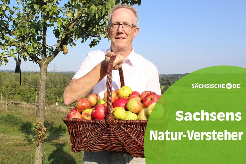 Lecker: Michael Schlitt kümmert sich mit seinen Mitstreitern um den Erhalt alter Obstsorten, wozu nicht nur Äpfel gehören.