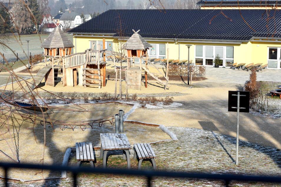 Ähnlich wie die neue Kita in Neusalza-Spremberg (im Bild) wünscht sich die Gemeinde Leutersdorf den Neubau in ihrem Ort.