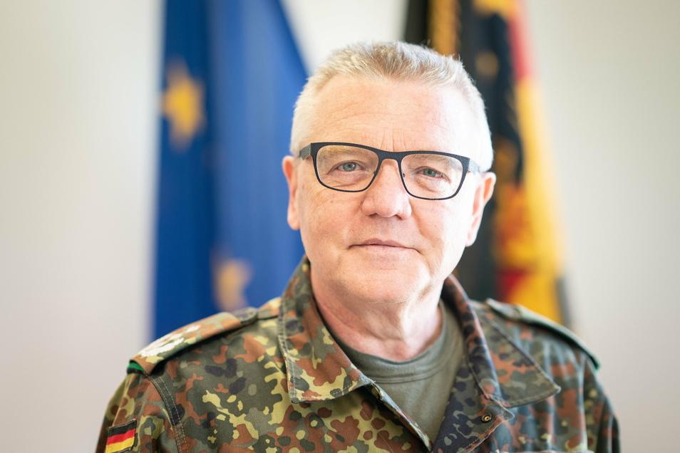 Klaus Finck ist der Kommandeur des Landeskommandos Sachsen.