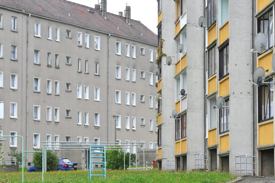 Wohnblöcke an der Ettlinger Straße in Löbau