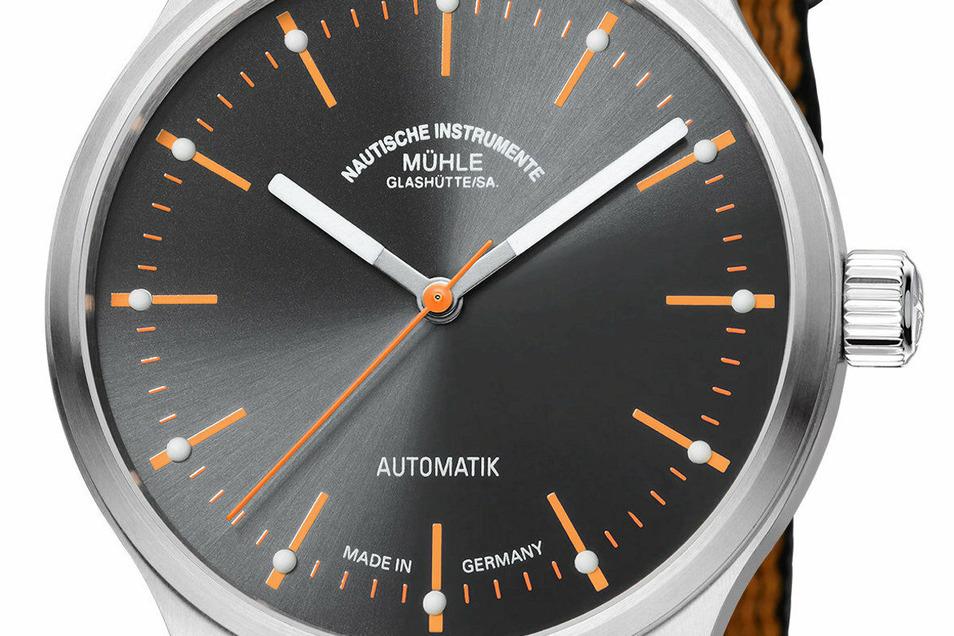 Das Familienunternehmen Mühle stellte zu Beginn des Jahres auf der Uhrenmesse in München das Modell Panova Grau vor. Es kostet 1.000 Euro.