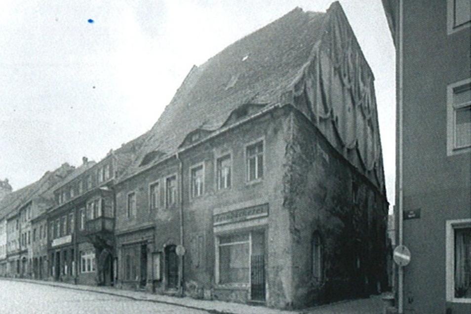 Das Bürgerhaus Schlossstraße 14/Ecke Frohngasse wurde im Februar 1989 abgerissen.