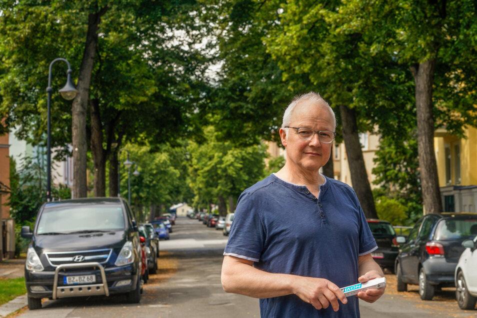 So dicht begrünt könnte die Paulistraße in Bautzen nach den geplanten Bauarbeiten und Baumfällungen irgendwann wieder aussehen. Wie das gehen soll, dafür hat Olaf Haase von den Stadtbegrünern Vorschläge.