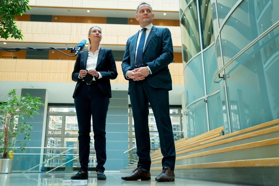 Alice Weidel und Tino Chrupalla werden als Spitzenkandidaten der AfD in den Bundestagswahlkampf gehen.