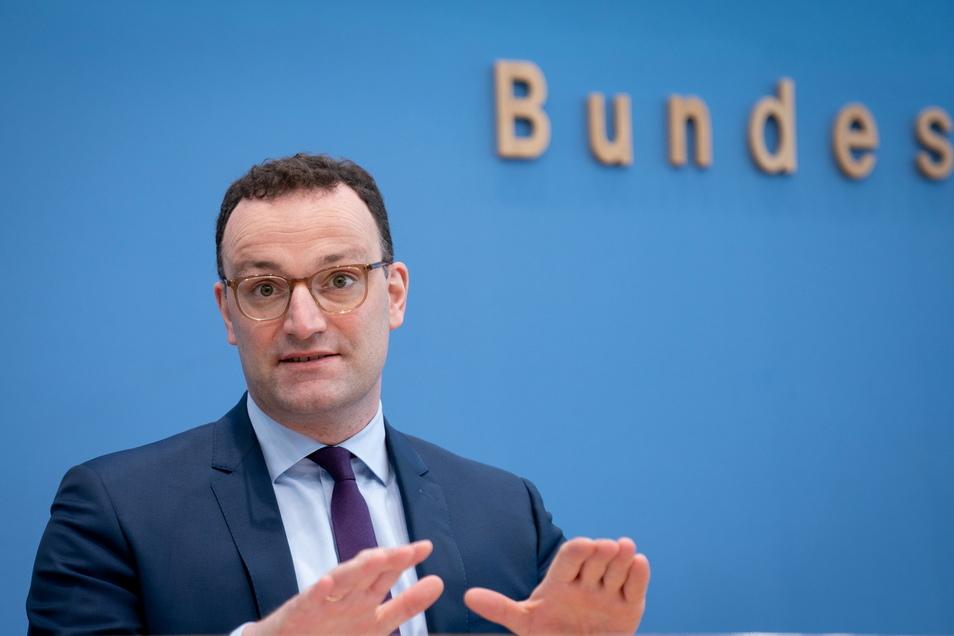 Gesundheitsminister Jens Spahn (CDU) gab am Donnerstag eine Pressekonferenz zur weiteren Entwicklung in der Corona-Pandemie.