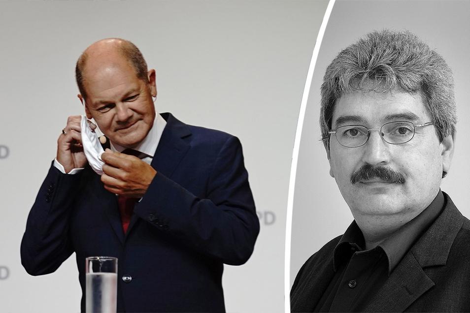 Peter Heimann (r.) kommentiert die Nominierung von Olaf Scholz zum Kanzlerkandidaten der SPD.