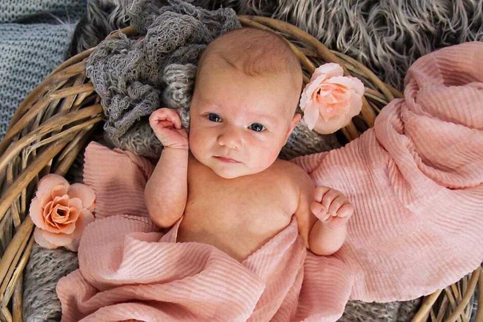 Smilla, geboren am 12. Mai, Geburtsort: Kamenz, Gewicht: 3.080 Gramm, Größe: 50 Zentimeter, Eltern: Susan Fetzer und Patrick Schmidt, Wohnort: Bischofswerda