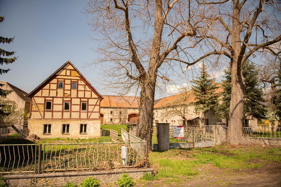 In Skäßchen steht die Alte Hauptstraße 19 zum Verkauf. Für das Fachwerk-Wohngebäude besteht Denkmalschutz.