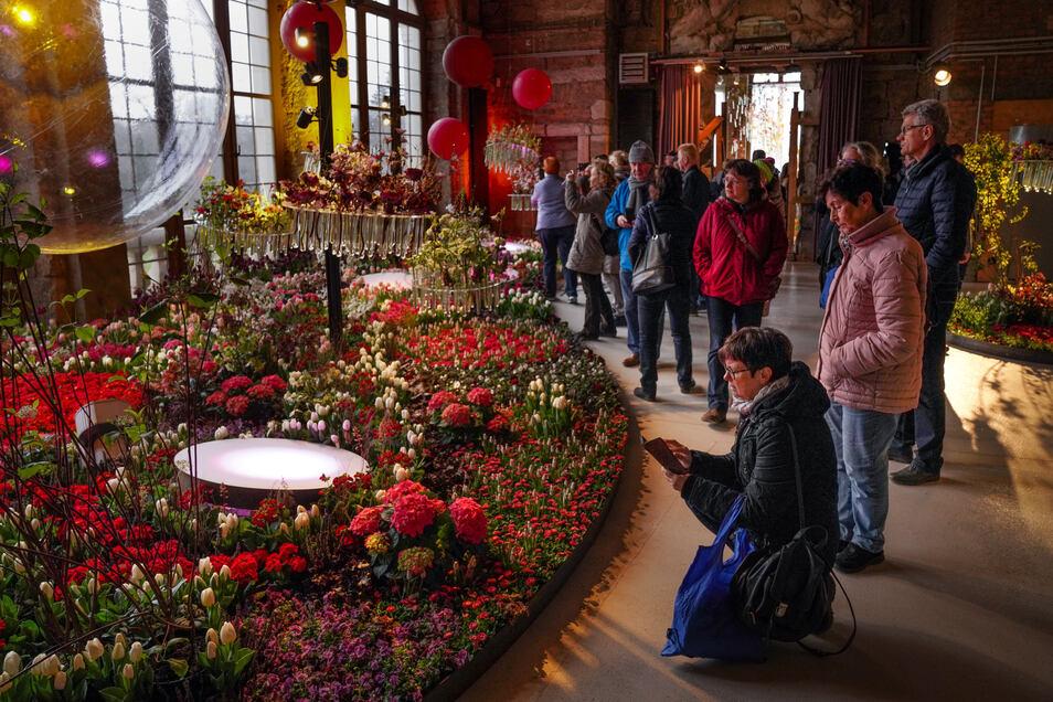 """Die Blumenschau """"Frühling im Palais"""" vor wenigen Wochen endete mit einem Besucherrekord."""