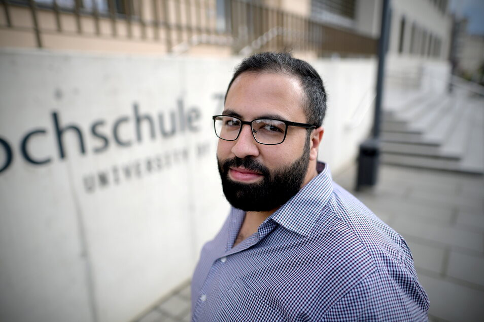 Ezzat Manaa studiert an der Hochschule in Zittau.