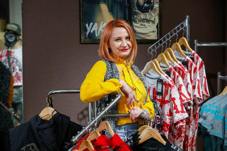 Michaela Koch liebt Yakuza-Mode und will diese nun in Zittau verkaufen.