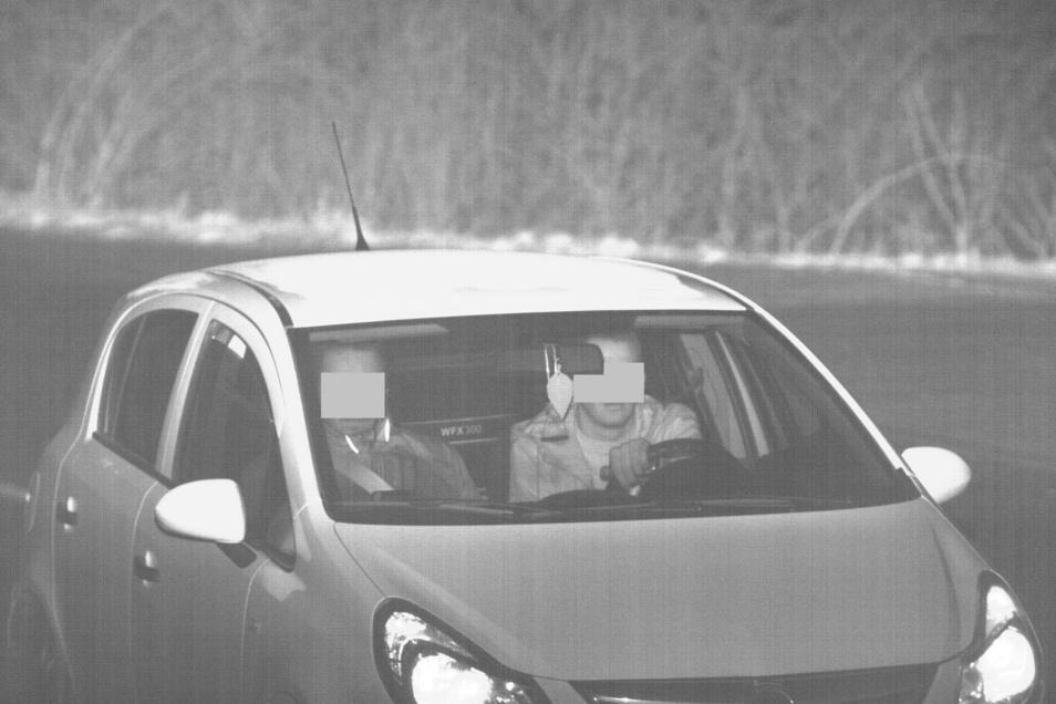 Anhand dieses Überwachungs-Fotos einer Kamerasäule an der Grenze wurde der Serientäter identifiziert.