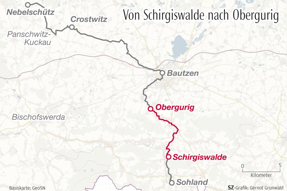 Die zweite Etappe ihrer Wahlwanderung führte die SZ-Reporterinnen von Schirgiswalde nach Obergurig.