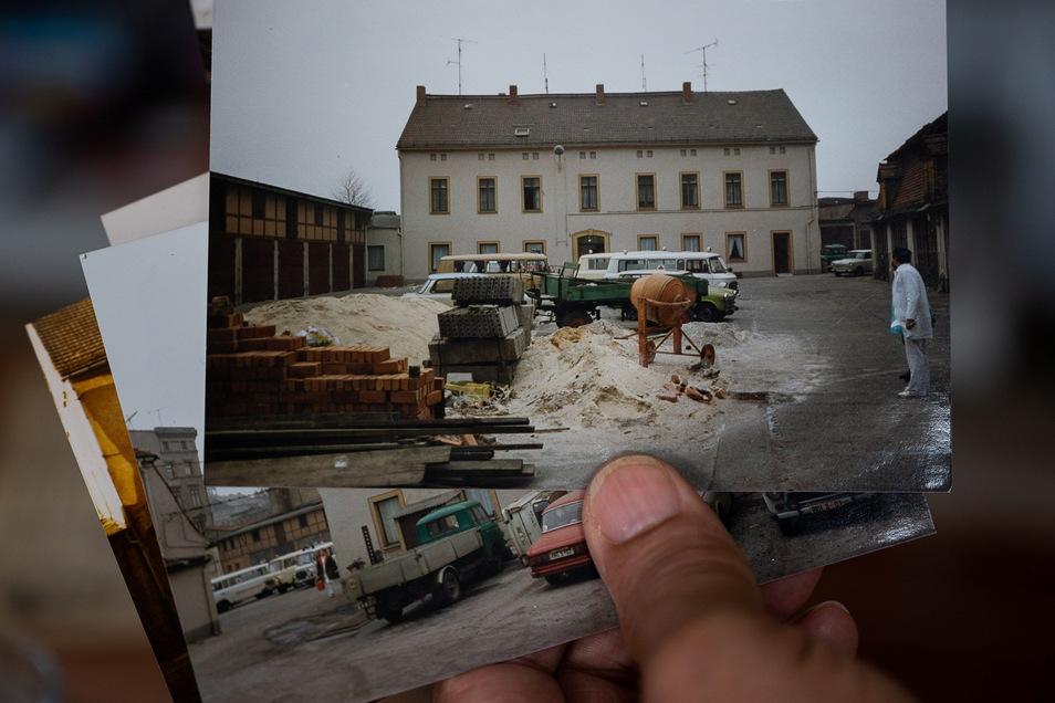 """Ende der 1970er Jahre entstand auf dem Gelände """"Zur Goldenen Sonne"""" am unteren Demianiplatz die neue Rettungsleitstelle mit einer ambulanten Notaufnahme und einer Beobachtungsstation."""