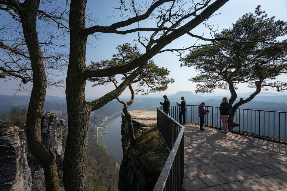 Die Aussicht von der Bastei ist legendär.
