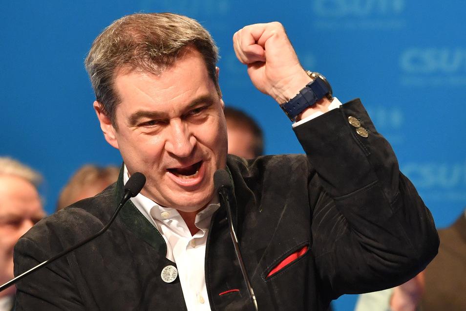 Markus Söder, CSU-Vorsitzender und Ministerpräsident aus Bayern äußert sich zum Extremismus.