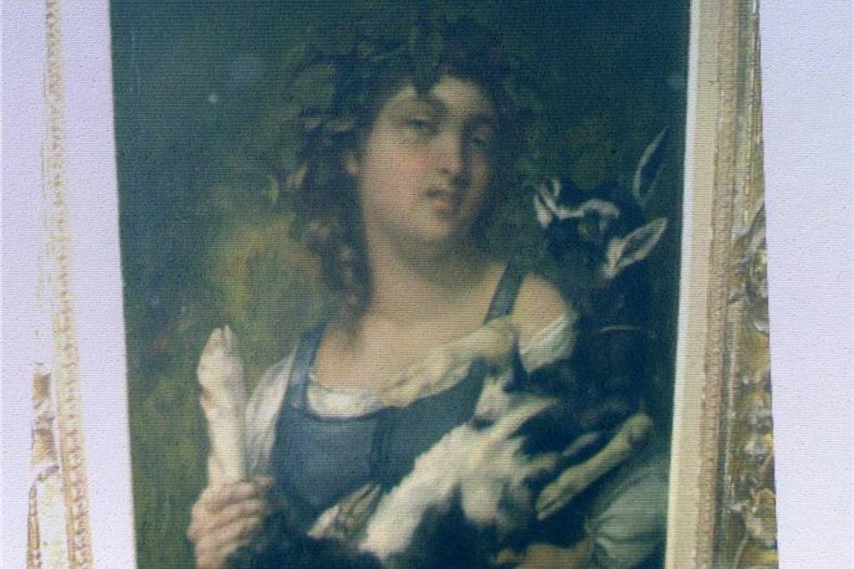 """Gustave Courbet: Von dem Bild """"Dorfmädchen mit Ziege"""" sind im Werkverzeichnis des Malers zwei Versionen vorhanden. Das in München beschlagnahmte Bild war 1949 auf einer Auktion und kam wahrscheinlich erst nach dem Zweiten Weltkrieg in die Sammlung Gurlitt."""