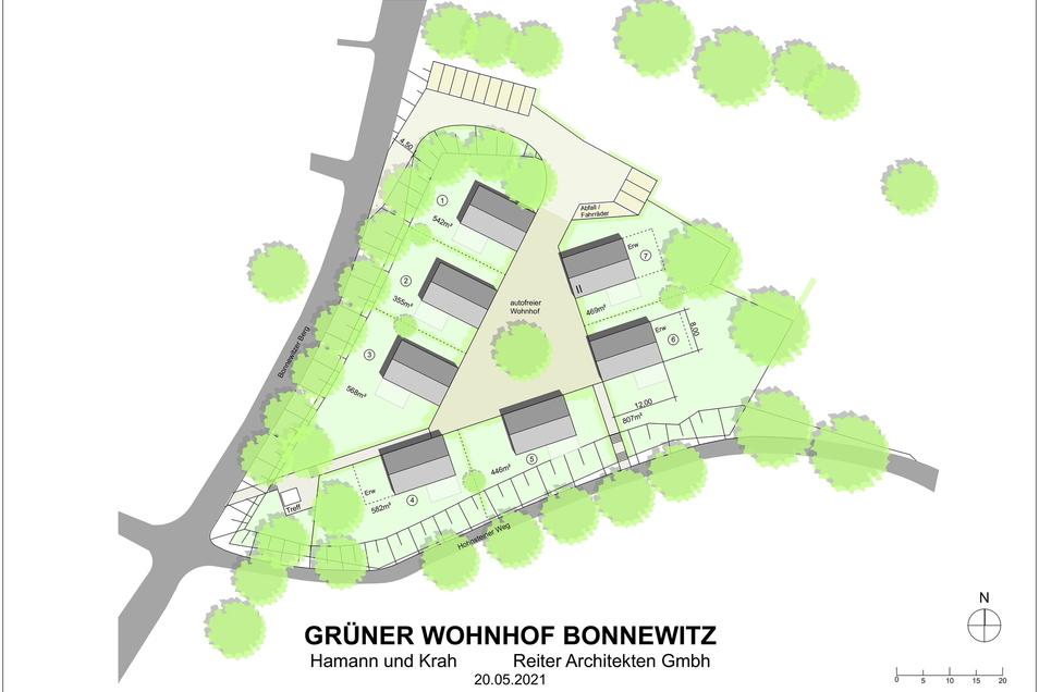 So sieht der Lageplan der neuen Wohnanlage in Bonnewitz aus.