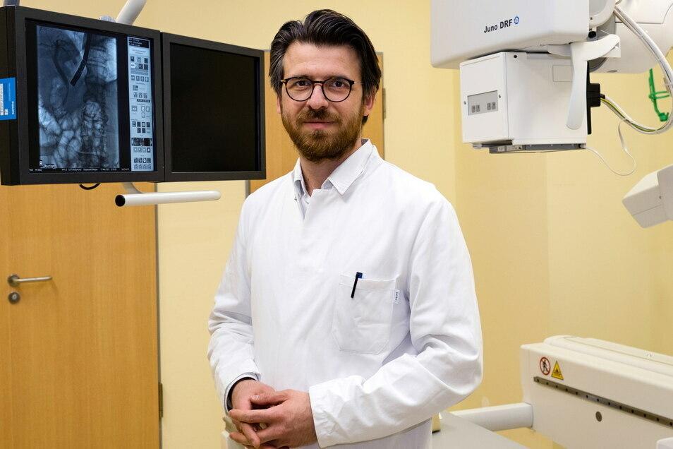 Marjan Stojanoski, Chefarzt der Klinik für Innere Medizin und Palliativmedizin des Malteser Krankenhauses St. Carolus in Görlitz.