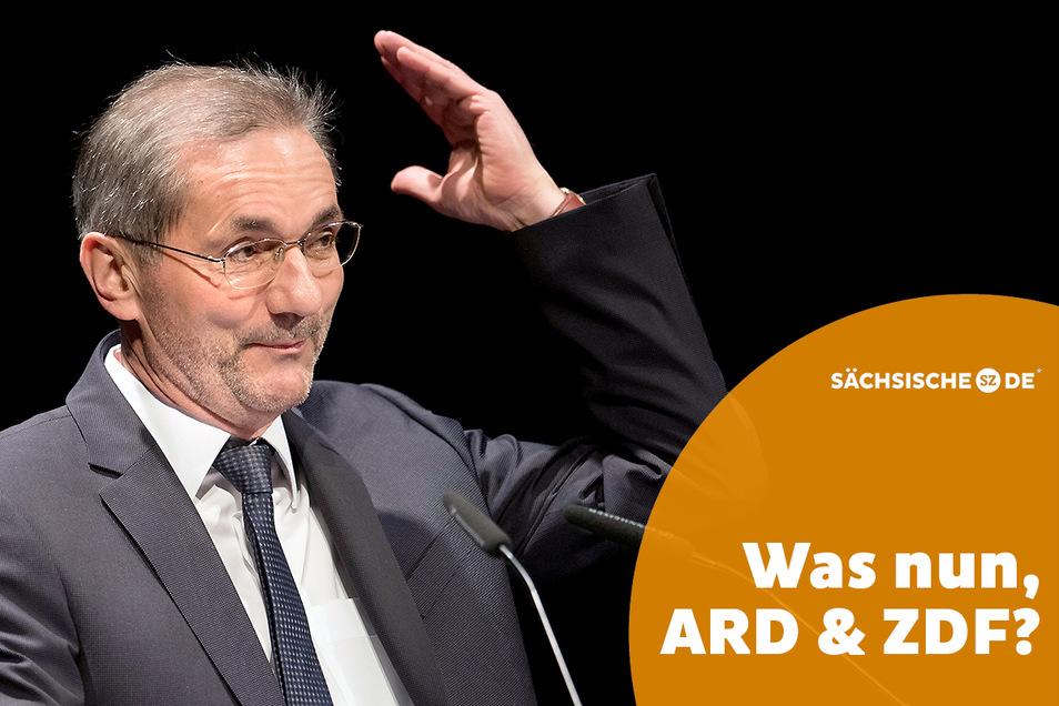 """""""Was mich besonders stört, ist die selbst vielen Nachrichten innewohnende Westsicht"""", sagt Matthias Platzeck über das öffentlich-rechtliche Fernsehen."""
