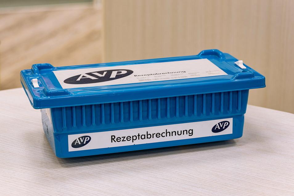Nur eine Plastikbox, aber vor der Pleite des Abrechners AVP waren die darin gesammelten Rezepte mindestens ein kleines Vermögen wert.