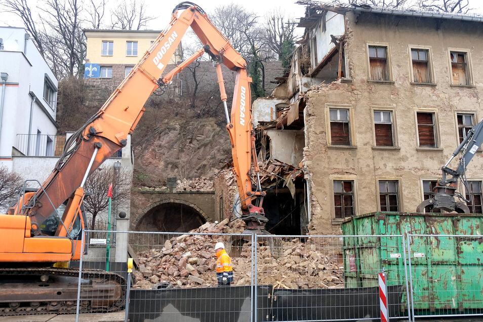 Das Gebäude in der Bahnhofstraße war nicht zu retten.