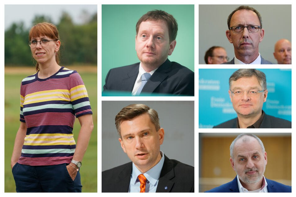 Die Spitzenkandidaten der aussichtsreichsten Parteien zur Landtagswahl.