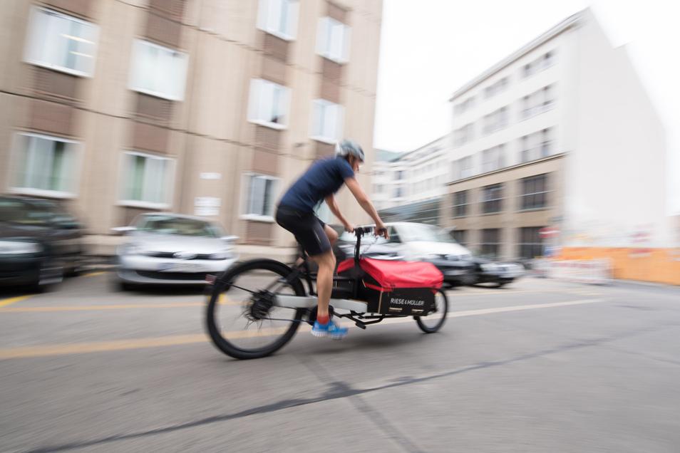 Per Lastenrad auf dem Weg zum Kunden: Gerade in Großstädten lässt sich so Geld verdienen.