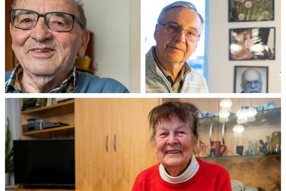 Von links oben: Jürgen Wenske, Rudolf Grzegorek und Heiderose Starke sind treue Leserbrief-Schreiber