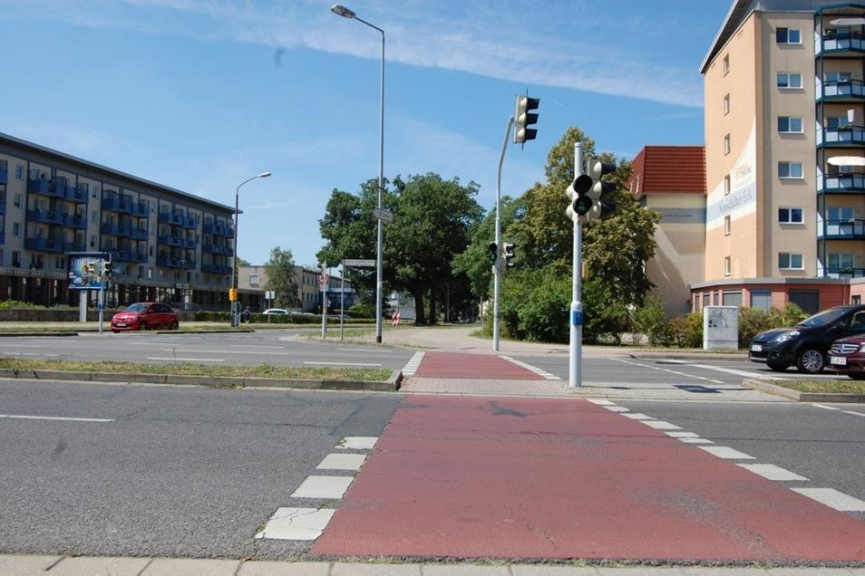 Am Neustädter Eck missachten viele Radfahrer die geltenden Verkehrsregeln. Daher soll hier nun verstärkt kontrolliert werden.