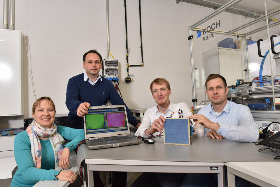 Michaela Wachtel, Sascha Bach, Marcus Stein und Ronald Claus von Nordheim führen bei Watttron die Geschäfte.