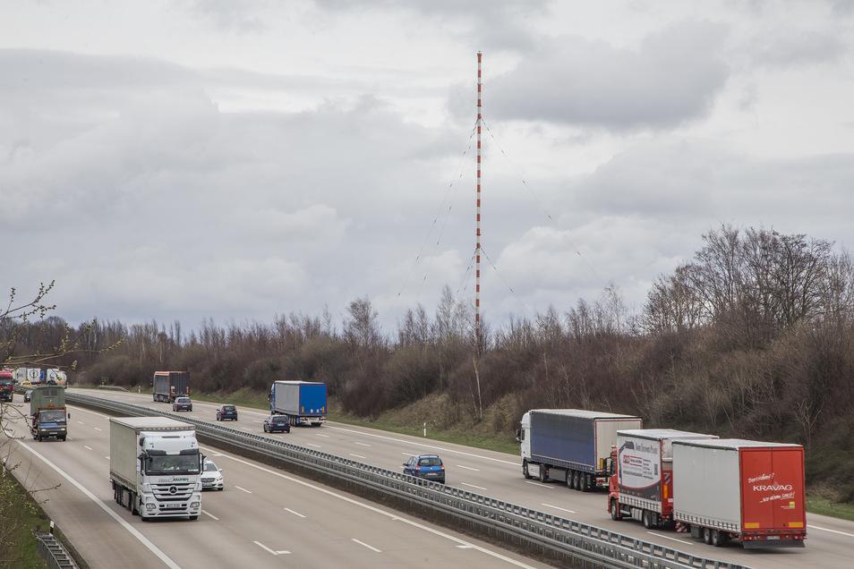 Die Autobahnanschlussstelle Wilsdruff wird in den kommenden Nächten kurzzeitig gesperrt.